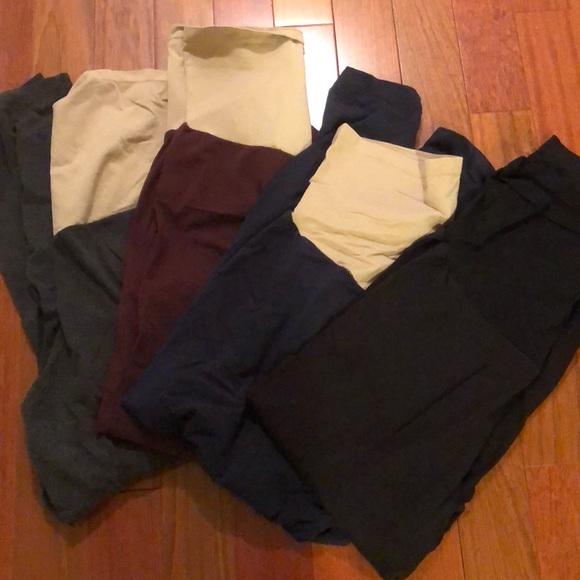 5c88babdbb5fe Motherhood Maternity Pants | 4 Pack Used Maternity Leggings 3xl Plus ...